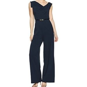 Black Halo Jackie jumpsuit in navy